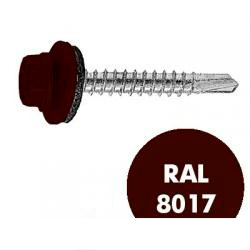 KRS 4.8*51 RAL 8017 (ШОКОЛАДНО-КОРИЧНЕВЫЙ) САМ. КРОВ. с бур